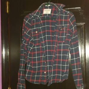 Red and Blue Abercrombie flannel